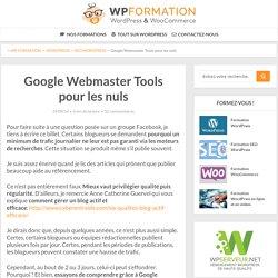 Google Webmaster Tools pour les nuls : ses secrets dévoilés