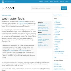 Webmaster Tools « Support — WordPress.com