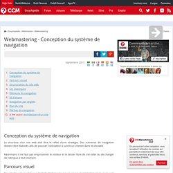 Webmastering - Conception du système de navigation