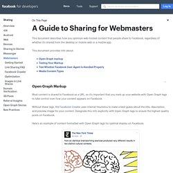 Webmasters - Sharing
