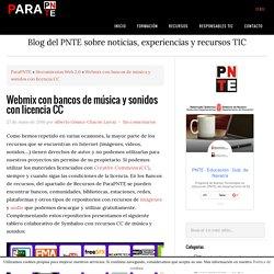 Webmix con bancos de música y sonidos con licencia CC