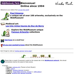 WebMuseum: Bienvenue! (Welcome from the curator)