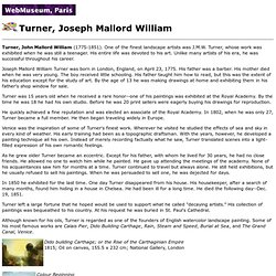 Turner, Joseph Mallord William