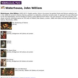 WebMuseum: Waterhouse, John William
