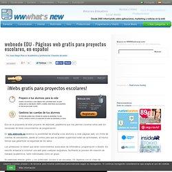 webnode EDU – Páginas web gratis para proyectos escolares, en español