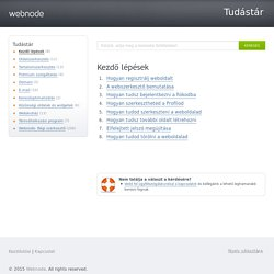 Webnode - Tudástár