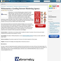 Webnometry a Leading Internet Marketing Agency by Maya Swamy