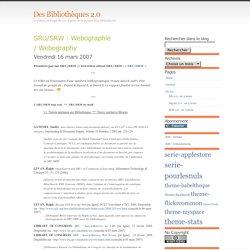 SRU/SRW : Webographie / Webography