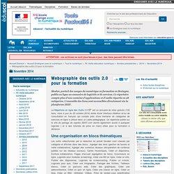Webographie des outils 2.0 pour la formation