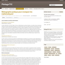 Webographie pratique pour enseigner les mathématiques! - PédagoT