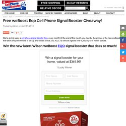 Free weBoost Eqo Cell Phone Signal Booster Giveaway! - Cell Phone Signal Booster .us