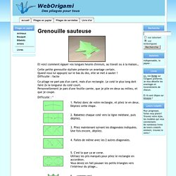 WebOrigami - Grenouille Sauteuse