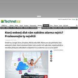 Který webový disk vám nabídne zdarma nejvíc? Prozkoumejte ty největší - iDNES.cz