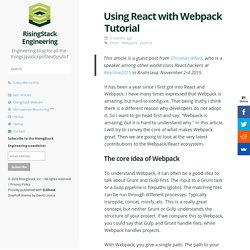 Using React with Webpack Tutorial