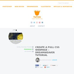 Create a Full CSS Website or Web Page Layout Dreamweaver/HTML/CSS Tutorial :: Free Adobe Photoshop, Flash, Dreamweaver, Illustrator, Fireworks, Bridge, and Golive Video Tutorials ::