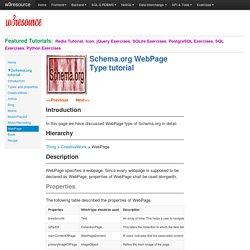 WebPage - Schema.org tutorial