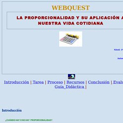 WebQuest - Proporcionalidad