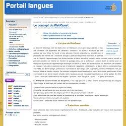 Le concept du WebQuest