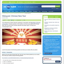 Webquest: Chinese New Year