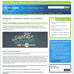 Webquest: Christmas