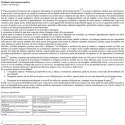 Webquest e didattica - di Marco Guastavigna