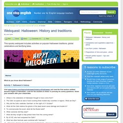 Webquest: Halloween: History and traditions