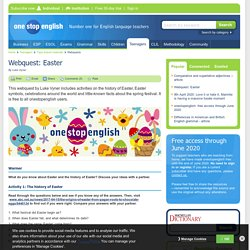 Webquest: The history and traditions of Easter