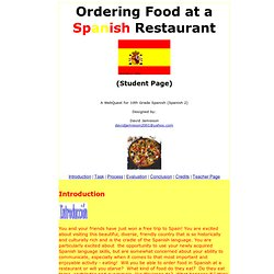 Webquest: Ordering Food at a Spanish Restaurant
