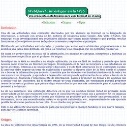 WebQuest ¿Qué son?