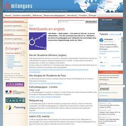 WebQuests en anglais