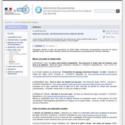 Webradio : des ressources pour la mise ne oeuvre