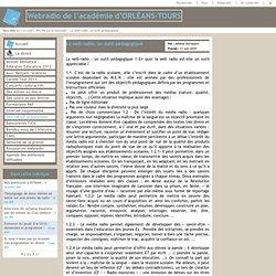 Intérêt pédagogique de la web radio. Hélène Duvialard