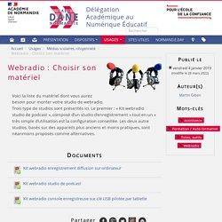 Webradio : Choisir son matériel - Dane