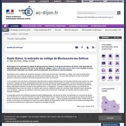 Radio Bahut, la webradio du collège de Montsauche-les-Settons