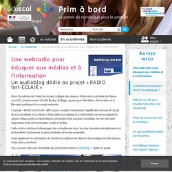 Une webradio pour éduquer aux médias et à l'information - Prim à bord