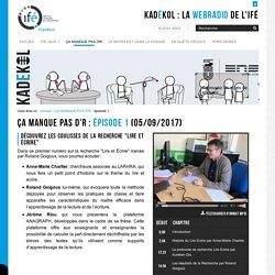 épisode 1 — La WebRadio de l'Institut Français de l'Éducation