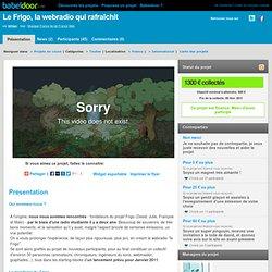 Projet Le Frigo, la webradio qui rafraîchit