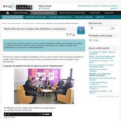 Webradio sur les usages des tablettes numériques