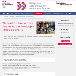 Webradio : trouver des jingles et des bruitages libres de droits - Dane