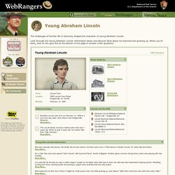 Webrangers Activity: Young Abraham Lincoln
