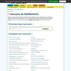 Annuaire Web Rank Info