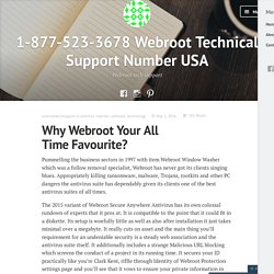 Why Webroot Your All Time Favourite? – 1-877-523-3678 Webroot Technical Support Number USA