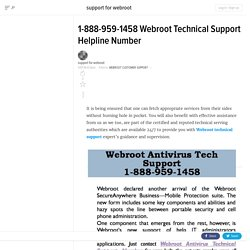 1-888-959-1458 Webroot Technical Support Number