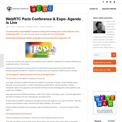 WebRTC Paris Conference & Expo- Agenda is Live - Upperside Blog