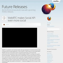 WebRTC makes Social API even more social
