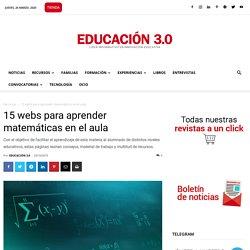 15 webs para aprender Matemáticas en el aula