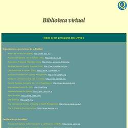 WEBs -BIBLIOTECA VIRTUAL-