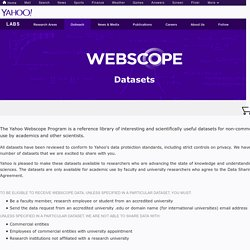 Webscope from Yahoo! Labs