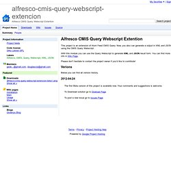 alfresco-cmis-query-webscript-extencion - Alfresco CMIS Query Webscript Extention
