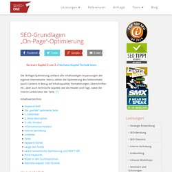 SEO Tutorial 2/3: onPage-Optimierung - Webseitenoptimierung